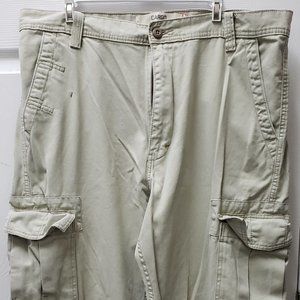 Levis Khaki Loose Straight Cargo Pants 38 x 30